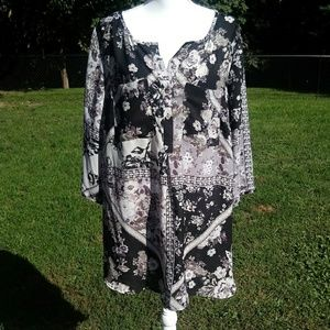 Floral Polyester Tunic
